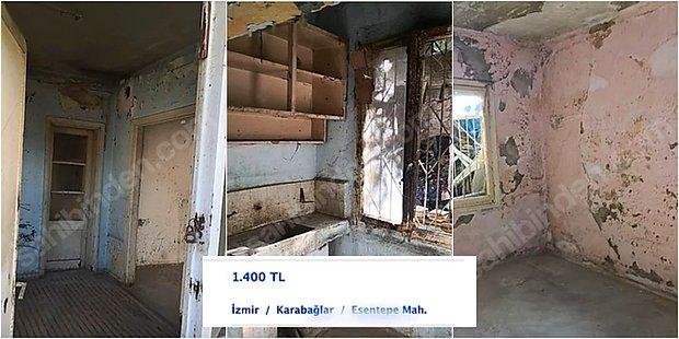 İzmir'de 1400 Liralık Kiralık Harabe İlanı Görenlere Yuh Dedirtti