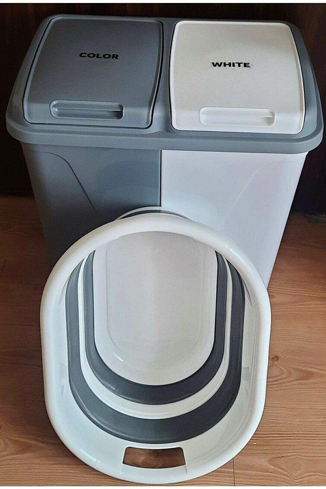 7. Kirlileri tek bir yerde topla, sonra ayıkla... Araya karışan beyaz olursa da vay haline... Neyse ki artık iki gözlü kirli çamaşır sepetleri var.