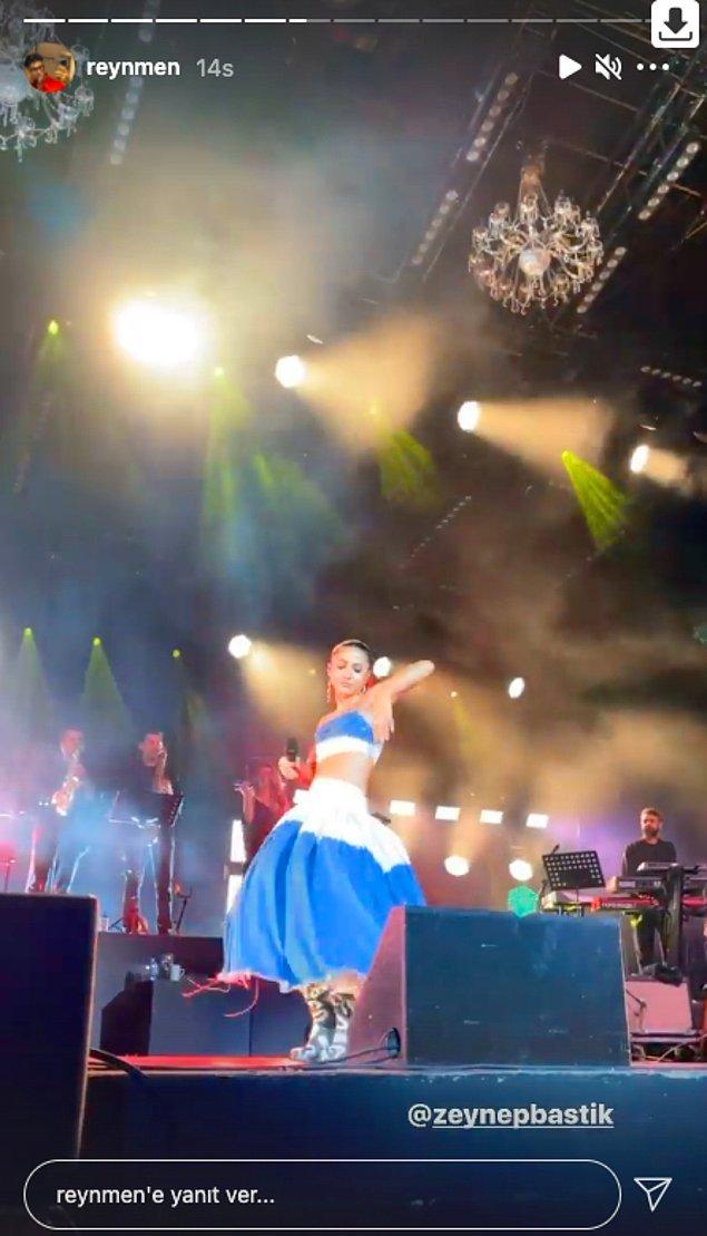 Dün akşam Harbiye'de Zeynep Bastık konseri vardı, belki görmüşsünüzdür.