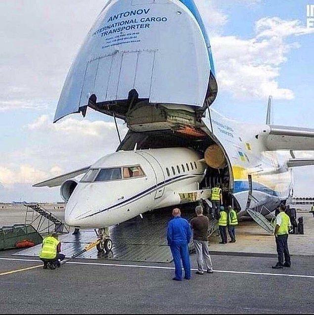 6. Uçakta taşınan başka bir uçak: