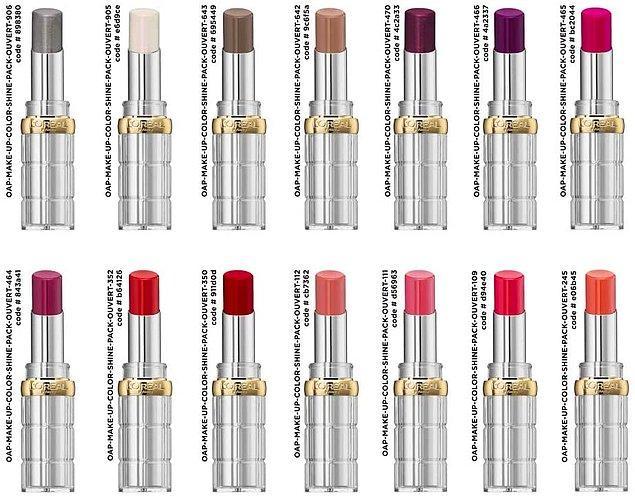 2. Daha dolgun görünen dudaklar için L'oreal Paris Color Riche Shine ruj.