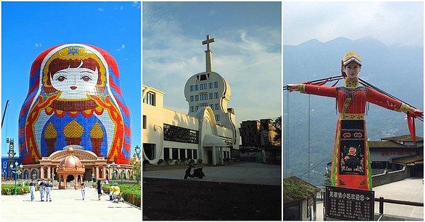 Mimari Facialar! Matruşka Otel'den Keman Şeklinde Kiliseye Çin'in En Çirkin Binaları