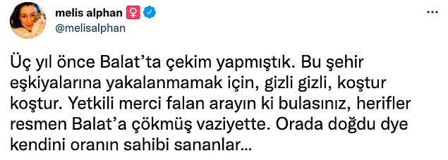 Sosyal medya hesabından saldırıyı ve Kaya'nın sesini duyurmaya çalışan gazeteci Melis Alphan da yıllar önce bu çeteye yakalanmamak için gizli gizli çekim yaptıklarını söyledi.