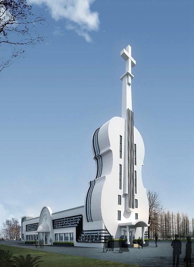 2. Keman şeklinde kilise - Foshan / Guangdong