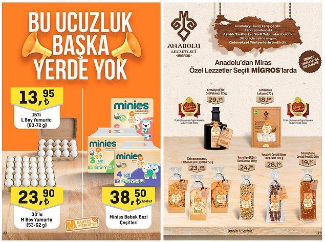 11. Migros tarafından seçilmiş Anadolu Lezzetleri uygun fiyatlara satışta olacak.