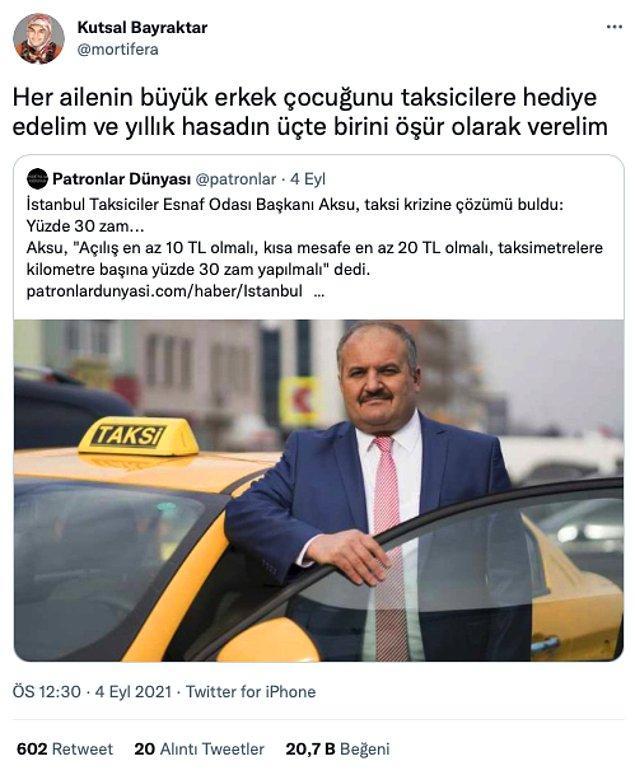 11. Çocuklar büyüyünce taksici olmak zorunda.