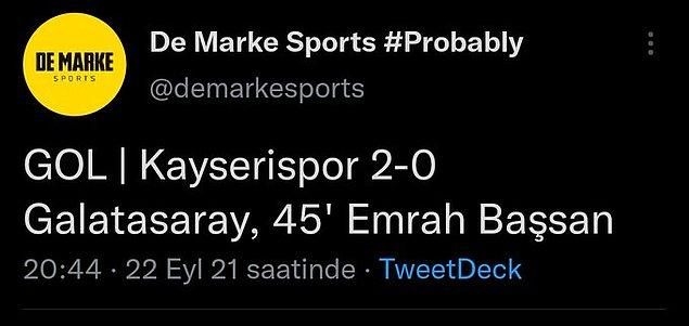 Bu arada sezonun en şık gollerinden biriydi bu gol.