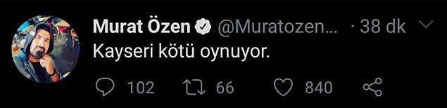 Dün oynanan Kayserispor Galatasaray maçı da Özen'in gazabından kurtulamadı...