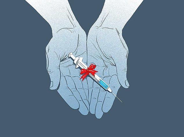 Ötanazi sürecinde hastaya ilaç veriliyor ya da enjeksiyon yapılıyor.
