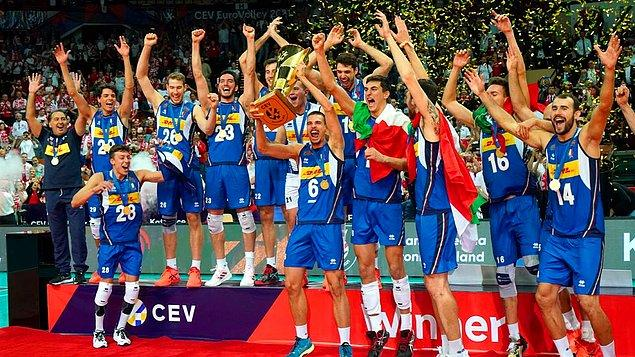 1. Erkekler voleybolda Avrupa şampiyonluğu 🏆