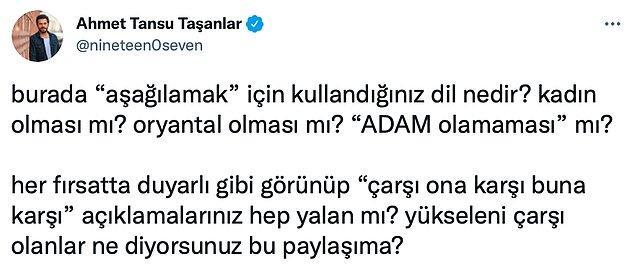 Ve birçok kişi Beşiktaş gibi büyük bir spor kulübünün bu tarz bir paylaşım yapmasına sessiz kalmadı.