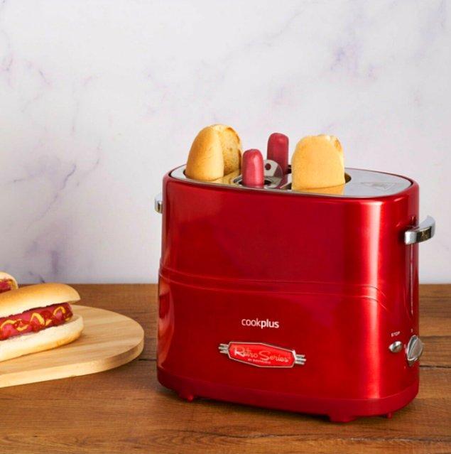 5. Evet, yanlış görmüyorsunuz. Hot dog yapma makinesi!