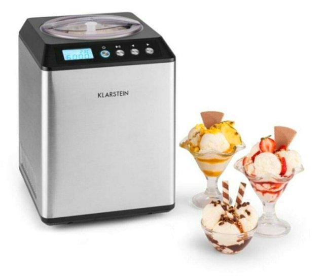 6. Klarstein Vanilla Sky dondurma yapma makinesi ile evde daha sağlıklı dondurmalar yapın...
