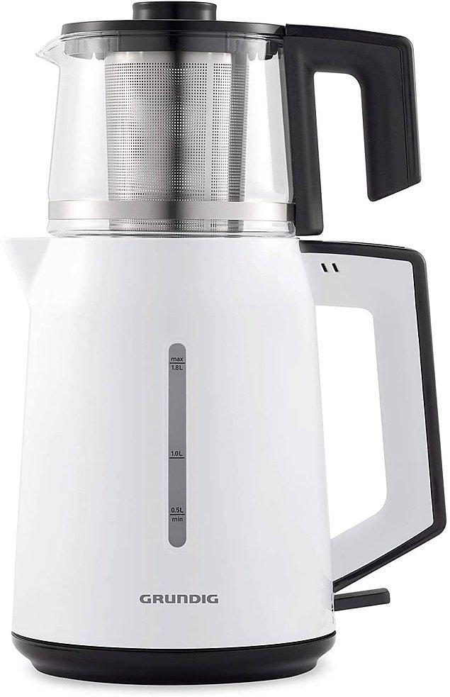 16. Grundig cam demlikli çay makinesi klasik çay makinesi isteyenlere göre...