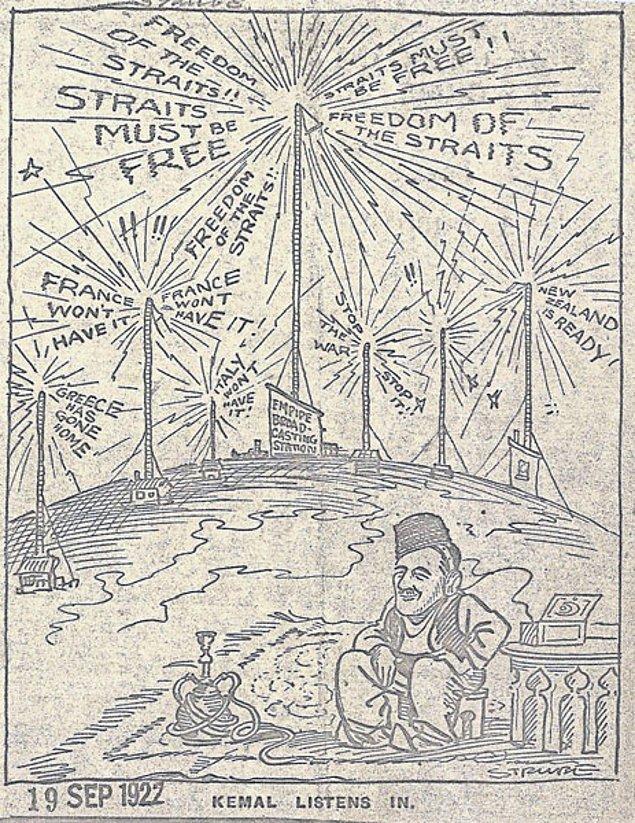 """Bu arada İngiliz basını da duruma oldukça tepkilidir. """"Bu yeni savaşı durdurun!"""", """"Çanakkale'den defolun!"""" manşetleri atan gazeteler savaşa karşı miting çağrısı dahi yaparlar."""