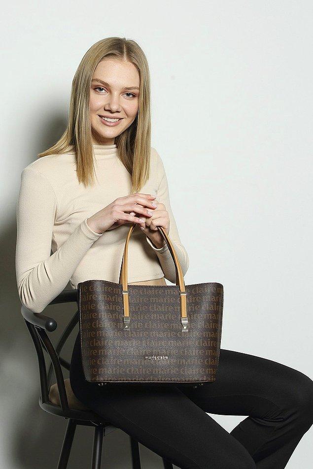 2. Marie Claire kahverengi omuz çantasının da farklı renk seçenekleri mevcut.