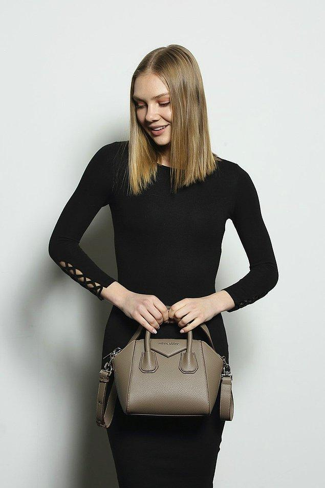 3. Marie Claire kadın vizon omuz çantası hem çok şık hem çok kullanışlı!