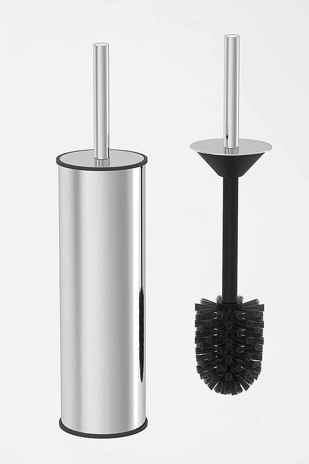 2. Sık ve plastik kıllarıyla etkin temizlik sağlayacak, krom kaplamasıyla banyonuza şık bir hava katacak akıllı kapak tuvalet fırçası. 👇🏻