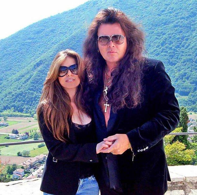 6. Dünyanın en ünlü gitar virtüözlerinden Yngwie Malmsteen'in eşi İzmirli Ebru Solmaz.