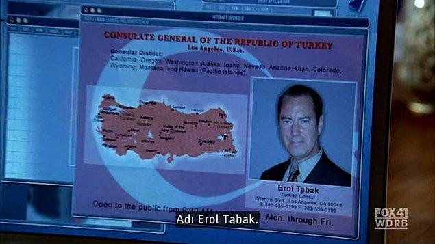 17. Prison Break'teki Türk Büyükelçi Erol Tabak sahnesi unutulmaz.