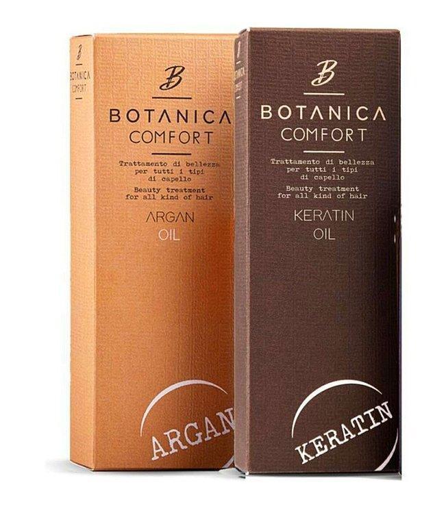 6. Yıpranmış saçlarına ilaç gibi gelecek Botanica Comfort ikili bakım yağı.