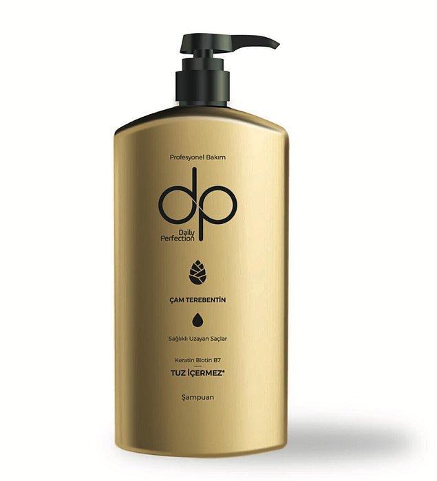 7. Saçı yıpratmadan temizleyen DP Tuzsuz Şampuan