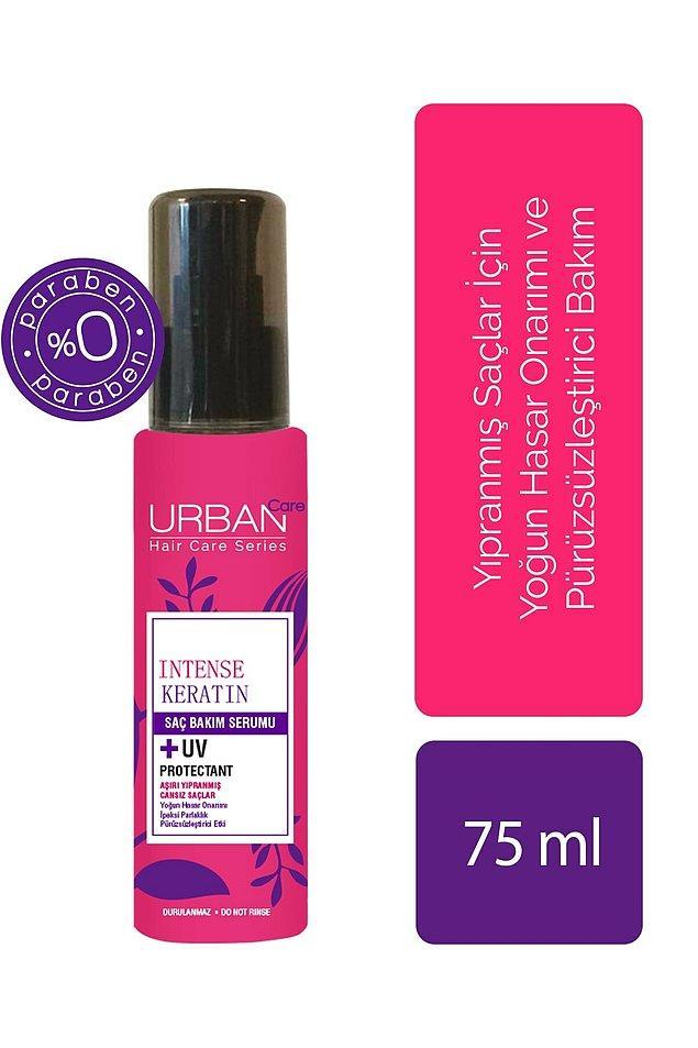 9. Urban Care yoğunlaştırılmış keratin içeren onarıcı ve pürüzsüzleştirici saç serumu