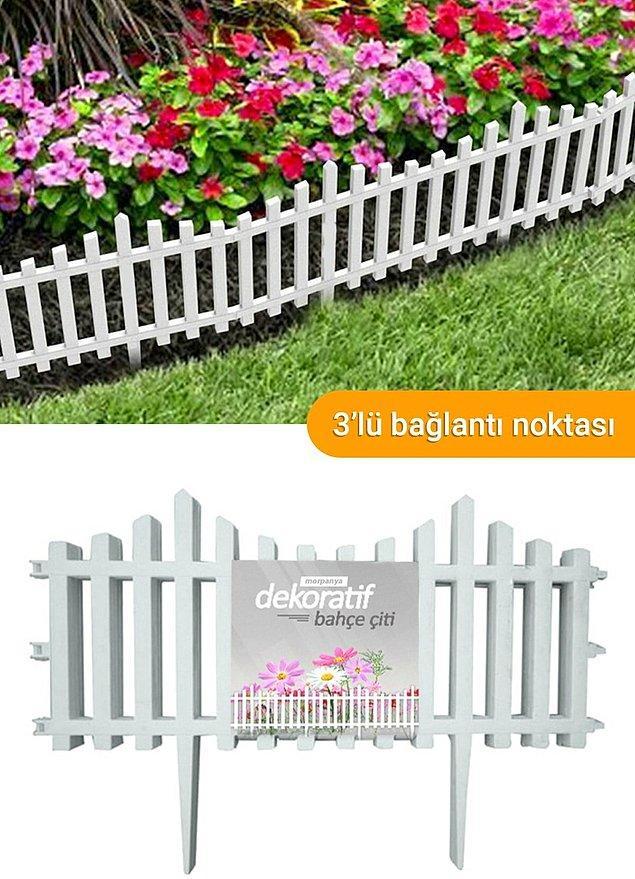 11. Bahçeniz için alabileceğiniz bu çitlerde iyi bir indirim var.