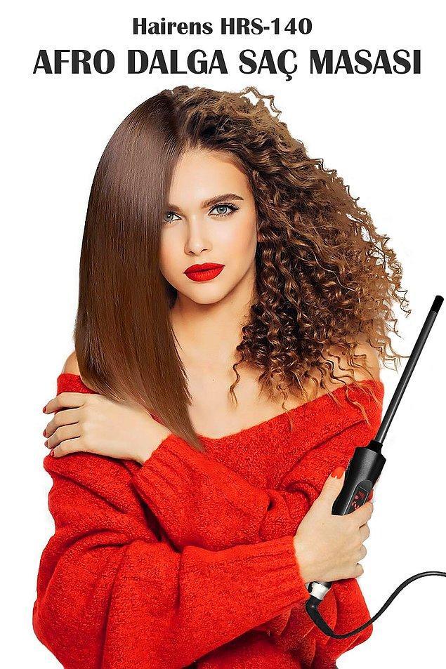 7. Kıvır kıvır ve bonus saçları evde kendiniz de yapabilirsiniz.