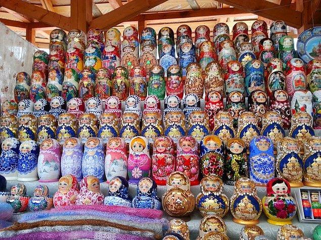 8. Moskova'da bulunan Izmailovsky Marketi