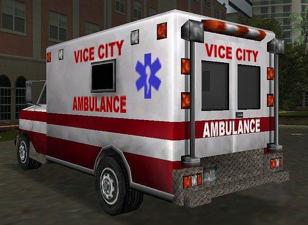12. Ölüyü dirilten paramedikler ve bu ambulans.