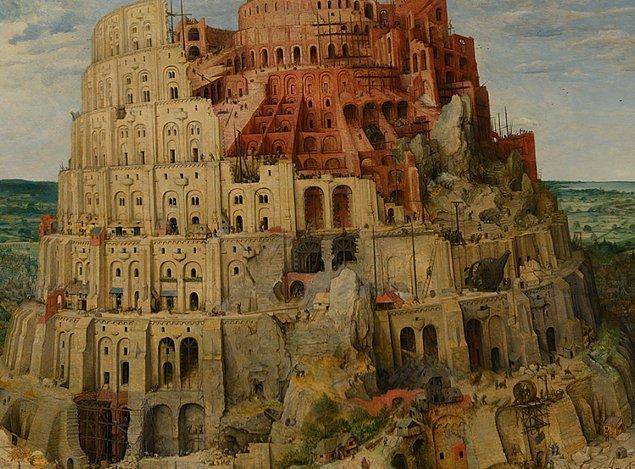 Toplam 90 metre uzunluğunda olduğu söylenen yedi katlı kulenin her bir katı farklı olguları simgeliyor.