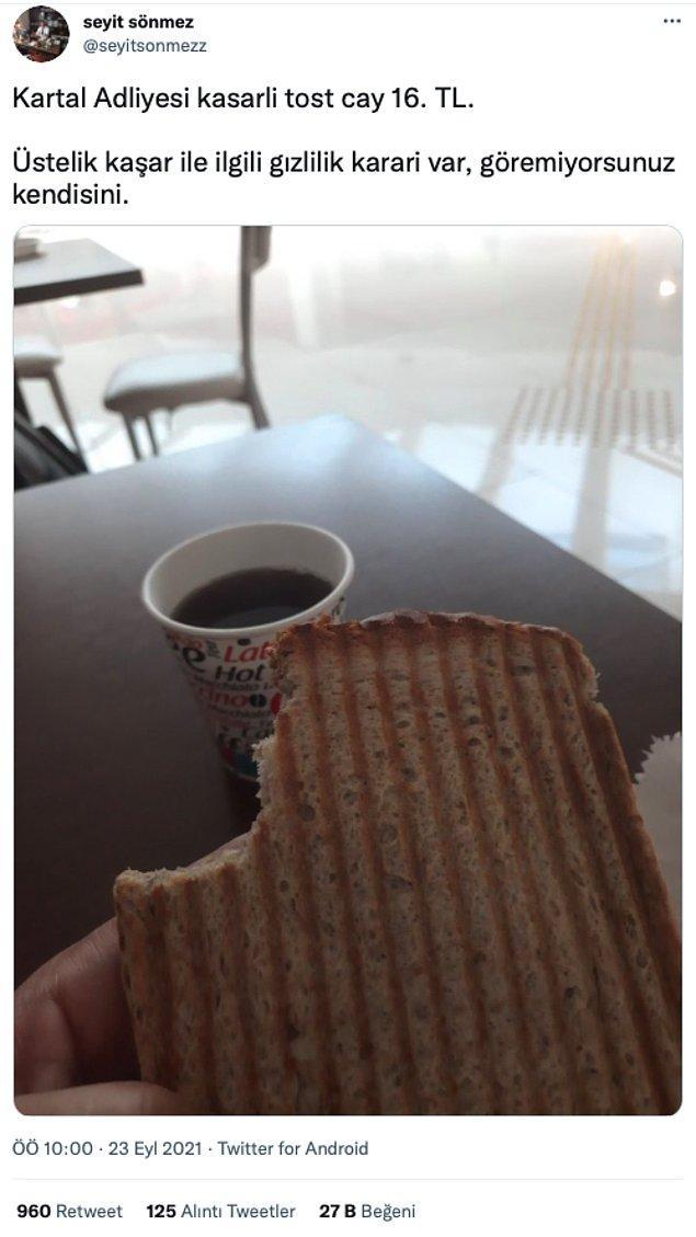 4. Tazminat davası sonunda kaybedince adliyede tost ısmarlıyorsunuz.
