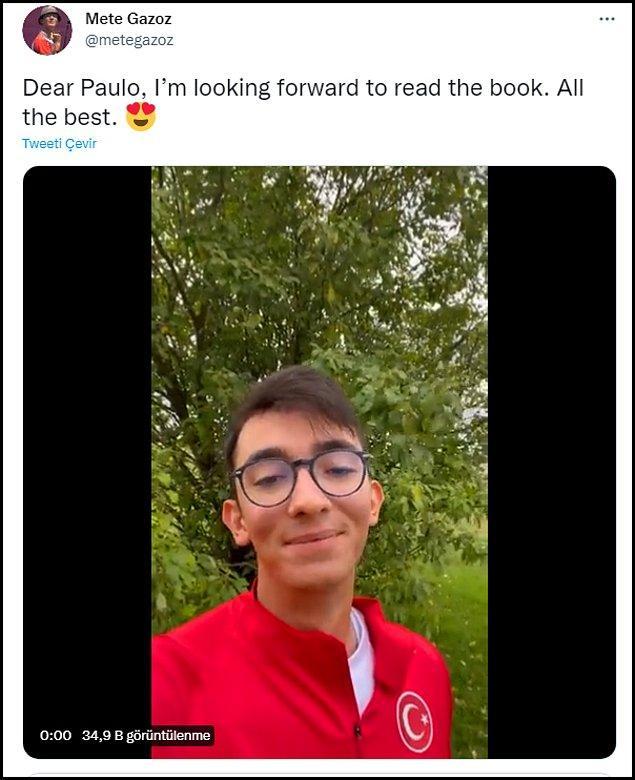 Şampiyon okçumuz Gazoz, Coelho'nun bu jestine kayıtsız kalmadı ve Twitter hesabından bir teşekkür videosu paylaştı.