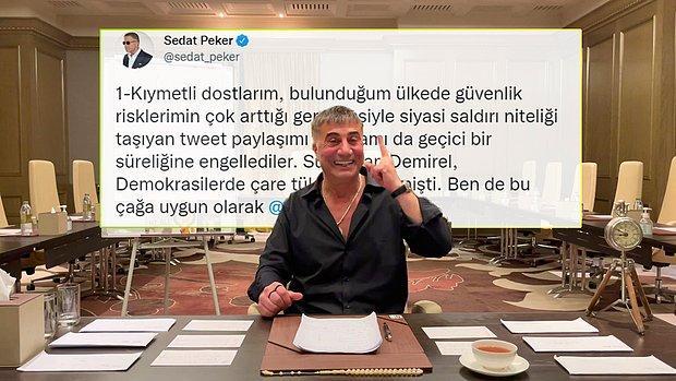 BAE'den Sedat Peker'e Twitter Engeli: Tweetleri Gazeteci Erk Acarer Paylaştı