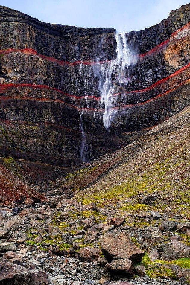 15. Hengifoss - İzlanda: