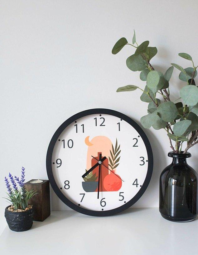 11. Odanızın duvarları çok boş kaldıysa bir saat ile renklendirin.