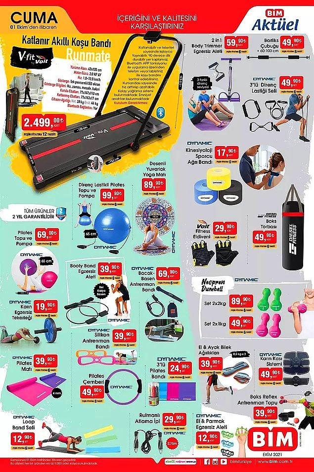 BİM'de bu hafta da evde spor yapabileceğiniz birçok ürün satışta olacak.