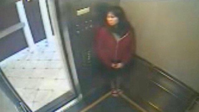 4. Elisa Lam isimli kadının ölmeden önce asansördeki güvenlik kamerasına yansıyan son görüntüsü: