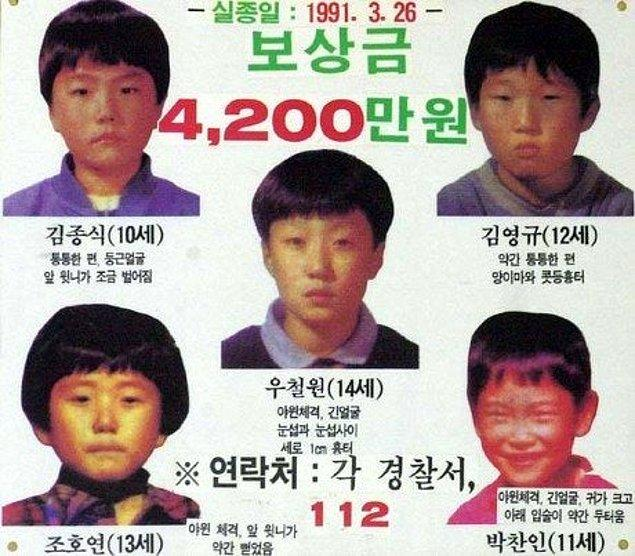 Tarihler 26 Mart 1991'i gösterdiğinde Güney Kore'nin Daegu kentinde yaşayan 5 çocuk, kurbağa avlamak için evlerinden ayrıldı ve bir daha geri dönmediler.
