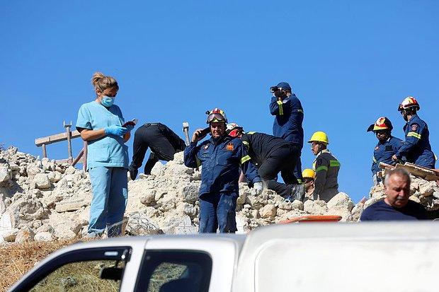 Girit Adası'nda Şiddetli Deprem: Çöken Binalarda Mahsur Kalanlar Var
