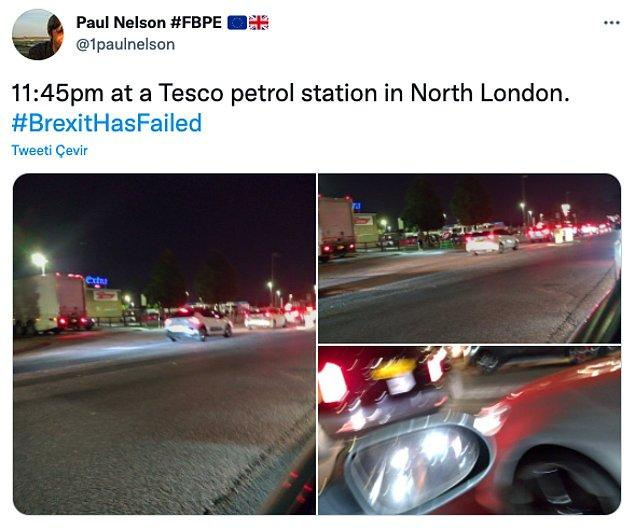 """""""Kuzey Londra'daki bir Tesco benzin istasyonunda 23:45"""""""