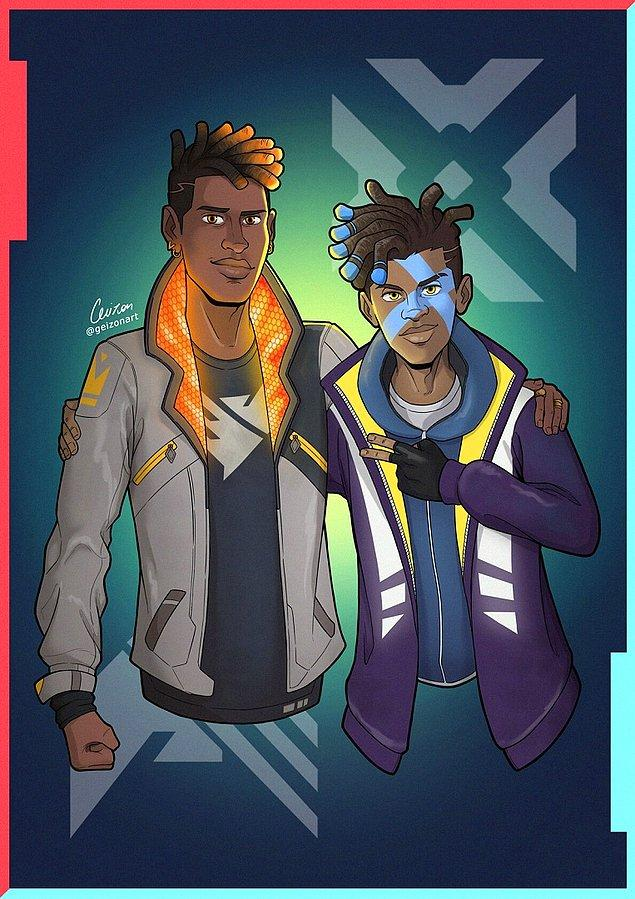 12. Geizon Art'da Phoenix ve Ekko'yu bir araya getirmiş.