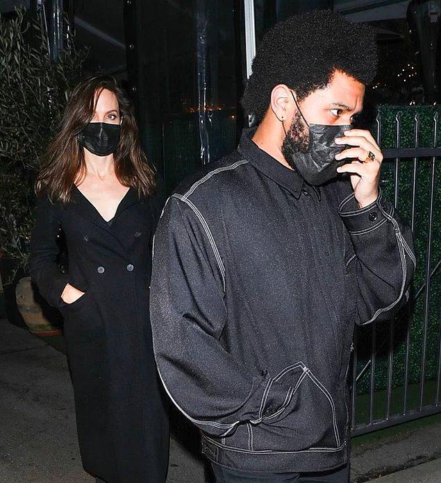 1. The Weeknd ve Angelina Jolie ikilisinden yeni fotoğraflar geldi!