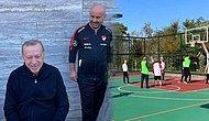 Cumhurbaşkanı Sahaya İndi: Cumhurbaşkanlığı Külliyesi'nde Erdoğan Bakanlarla Basketbol Maçı Yaptı