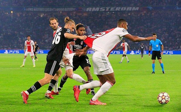 Beşiktaş, UEFA Şampiyonlar Ligi C Grubu ikinci maçında Hollanda'nın Ajax ekibiyle deplasmanda karşılaştı.