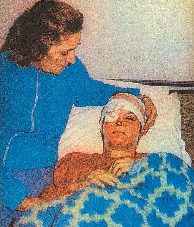 Taburcu olduktan sonra İzmir'den Ankara'ya dönerek 3 kez ameliyat olan Bergen'in çıkan sağ gözüne protez çukur yapıldı. Yok olan burun kanatları kıkırdaklarla yeniden oluşturuldu. Yüzüne kalçasından deri eklendi.