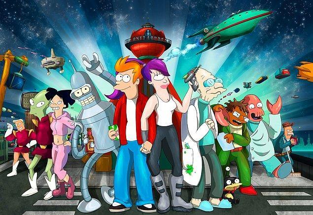 5. Futurama (1999-2013) - IMDb: 8.4