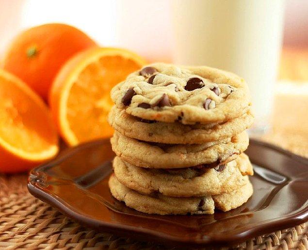 6. Portakallı Damla Çikolatalı Kurabiye Tarifi