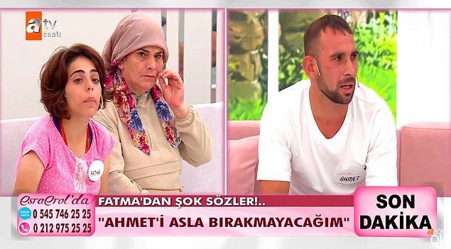 İzleyici, Ahmet'in TikTok'ta sürekli canlı yayın açtığını ve en fazla hediyeyi gönderene Fatma'yı göstereceğini söylediğini belirtti. Ahmet de izleyicinin bu söylediklerini kabul etti.